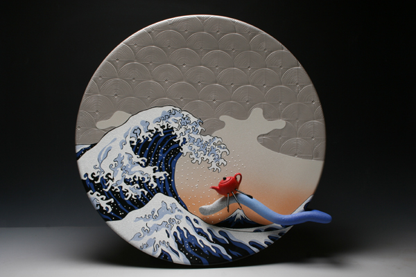 T-Rowing the Great Wave of Hokusai (detail)